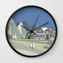 Cozy House Wall Clock