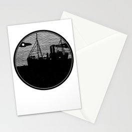 Silent boat. Stationery Cards