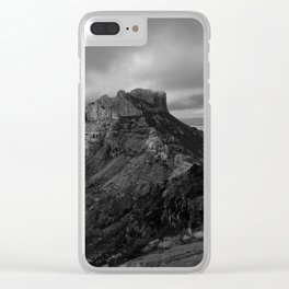 Top of Lost Mine Trail Mountaintop View, Big Bend - Landscape Photography Clear iPhone Case