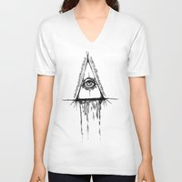 all seeing eye V-neck T-shirts featuring All Seeing Eye  by Emalee Røse