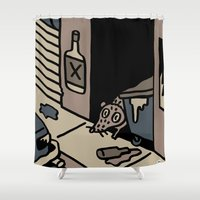 detroit Shower Curtains featuring Detroit 2 by stephenwilliamschudlich