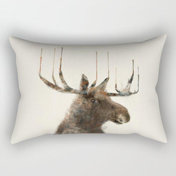 the moose Rectangular Pillow