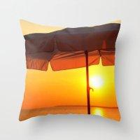twilight Throw Pillows featuring TWILIGHT by Ylak
