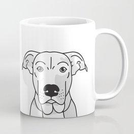 Labrador Mix Dog Portrait -Custom, black palette, minimal Coffee Mug