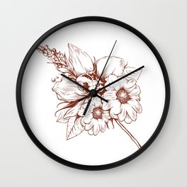 Orchid V Wall Clock