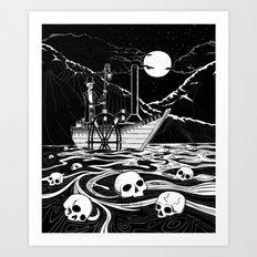 Steamboat across the Styx Art Print