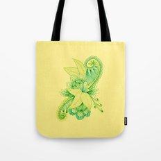 Green Arabesque Tote Bag