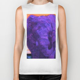 Purple Elephant Biker Tank