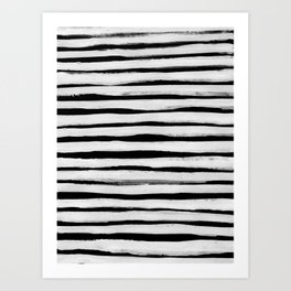 Black and White Stripes II Art Print