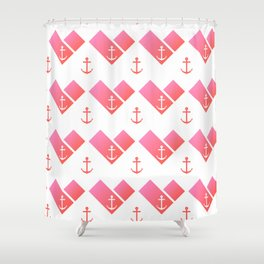 Florida Scarf Anchor Pattern Shower Curtain