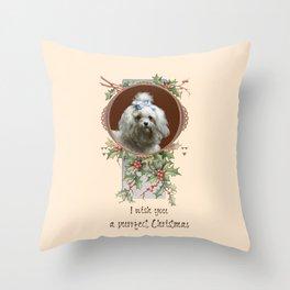 DOG LOVER CHRISTMAS GREETINGS Throw Pillow