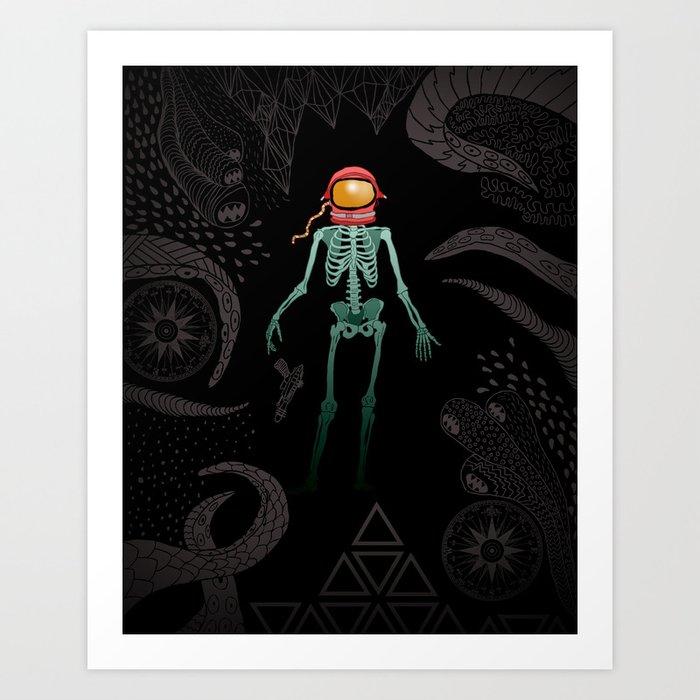 Eternal Celestial Sarcophagus Art Print