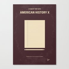 No247 My AMERICAN HISTORY X minimal movie poster Canvas Print
