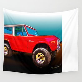 Ford Bronco Classic from VivaChas Hot Rod Art Wall Tapestry