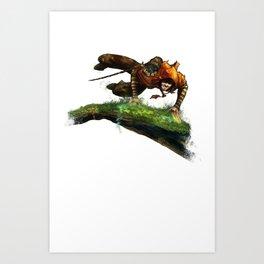 Berenn Jumping Art Print