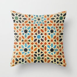 Details of Lindaraja in the Alhambra Throw Pillow