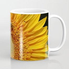 Bee and Dew on Sunflower Coffee Mug