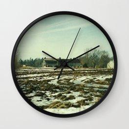Winter on The Farm Wall Clock