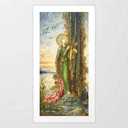 "Gustave Moreau ""Saint Cecilia"" Art Print"