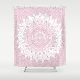 Boho Pink Mandala Shower Curtain