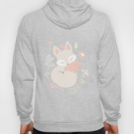 Sleeping Fox - grey pattern design Hoody