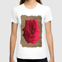 gold glitter T-shirts featuring Gold Glitter Single Rose Flower by Deluxephotos