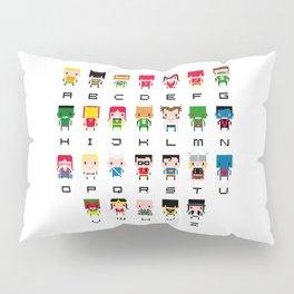 Superhero Alphabet Pillow Sham