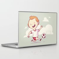 soccer Laptop & iPad Skins featuring Street Soccer by Mario Moreno