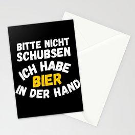 Bitte nicht schubsen, ich habe Bier in Stationery Cards