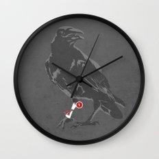 You've Got a Raven Wall Clock