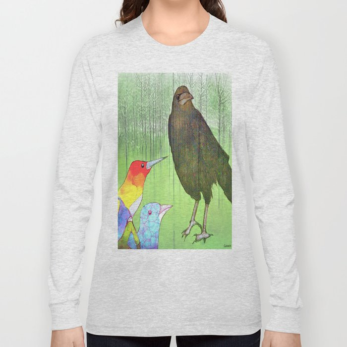 Le roi corbeau Long Sleeve T-shirt