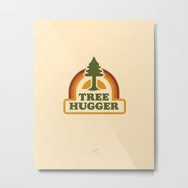 Retro Tree Hugger Metal Print
