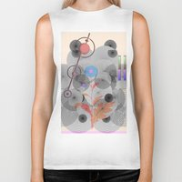 botanical Biker Tanks featuring Botanical Garden by Kay Weber