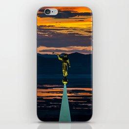Bountiful Sunset - Moroni Statue - Utah iPhone Skin