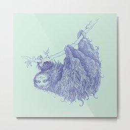 Slothy Metal Print