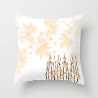 Flowers in Paradise Throw Pillow
