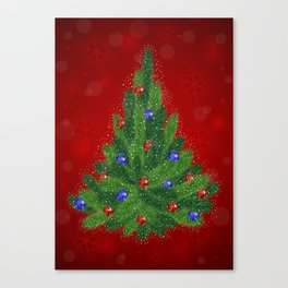 Christmas tree with background Canvas Print