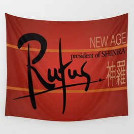 Rufus President of Shinra Campaign Logo - Final Fantasy VII Wall Tapestry