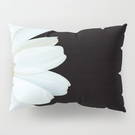 Hello Daisy - White Flower Black Background #decor #society6 #buyart Pillow Sham