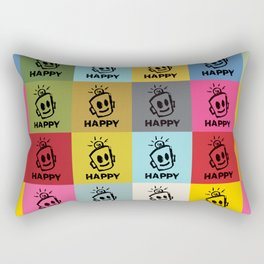 HAPPY SQUARES Rectangular Pillow