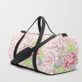 Pink Kimono Bouquet Duffle Bag