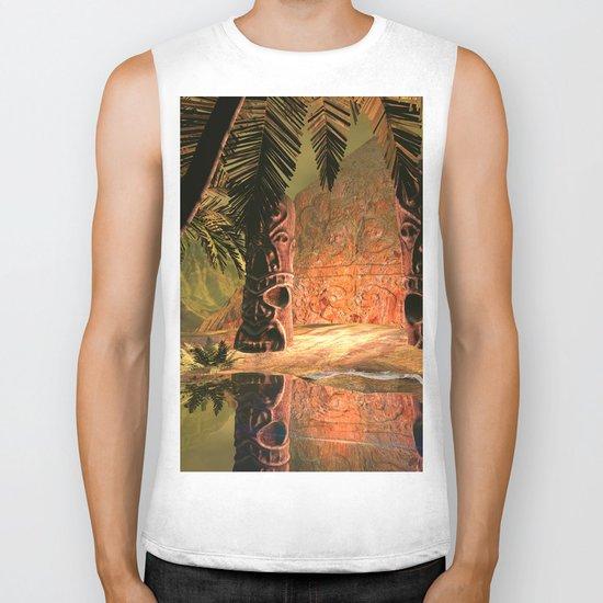 The magical temple Biker Tank