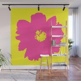 Pink Peony (Yellow) Wall Mural