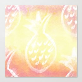 Pineapple Party 2 Canvas Print