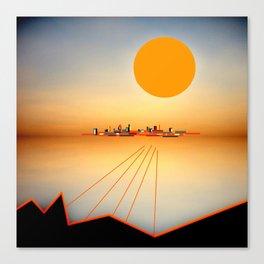 Horizon Sunset Orange Blue Canvas Print