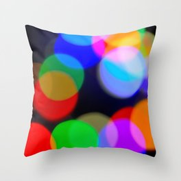 Christmas_Lights Bokeh - I Throw Pillow