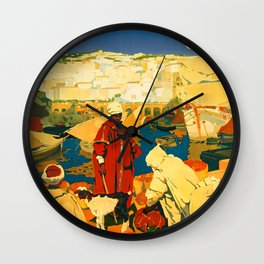 Retro travel poster — Algeria Wall Clock
