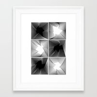 psych Framed Art Prints featuring psych by glitch