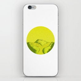 Yellow Y Path iPhone Skin