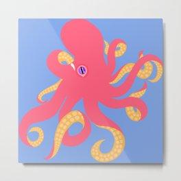 Pink Octopus II Metal Print
